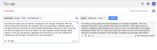 Vertaling in nieuw algoritme Google Translate